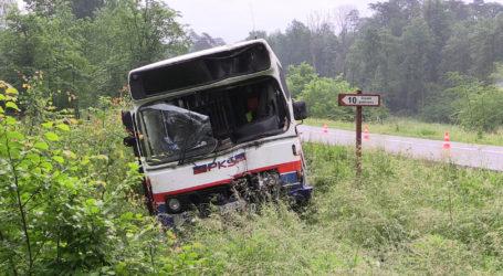 Wypadek dwóch autobusów koło Grabówna