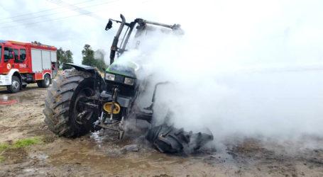 Spalił się ciągnik