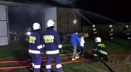 Pożar stodoły w Walentynowie