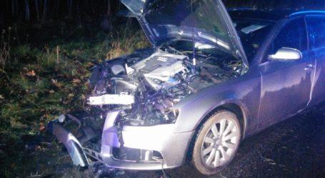 Groźny wypadek na drodze Milcz – Krzewina