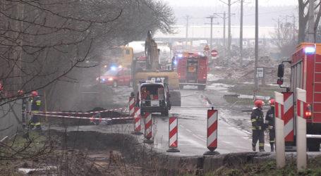 Koparka uszkodziła gazociąg