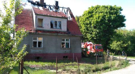 Pożar budynku jednorodzinnego