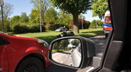 Wypadek z udziałem samochodu egzaminacyjnego