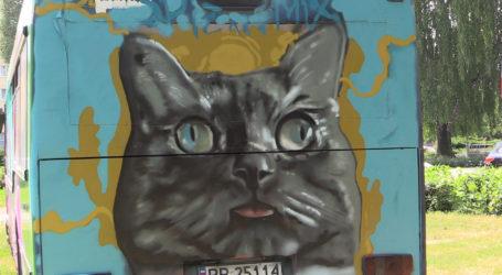 Grafficiarze malowali stare autobusy