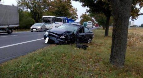 Pijany kierowca spowodował wypadek na krajowej 11