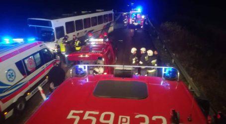 Wypadek z udziałem autobusu