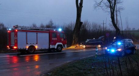 Samochód uderzył w drzewo