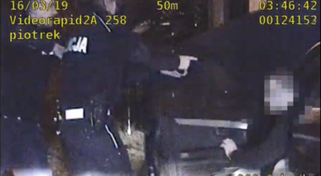 Pijany 19-latek uciekał policjantom – VIDEO