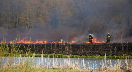 Pożar łąk nad Notecią