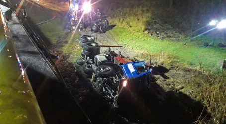 Tak wyglądała akcja ratownicza po wypadku ciężarówki w Pile