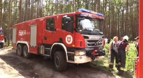Pożar lasu przy j. Płotki