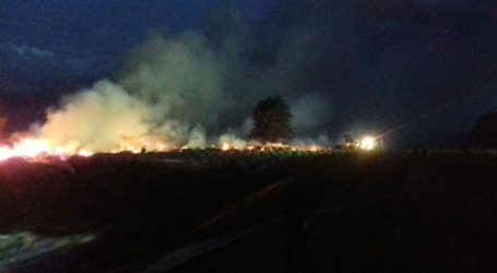 Duży pożar w okolicy Osieka nad Notecią