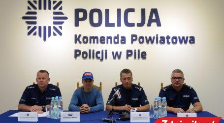 Jarek Hampel nagrał spot z pilską policją
